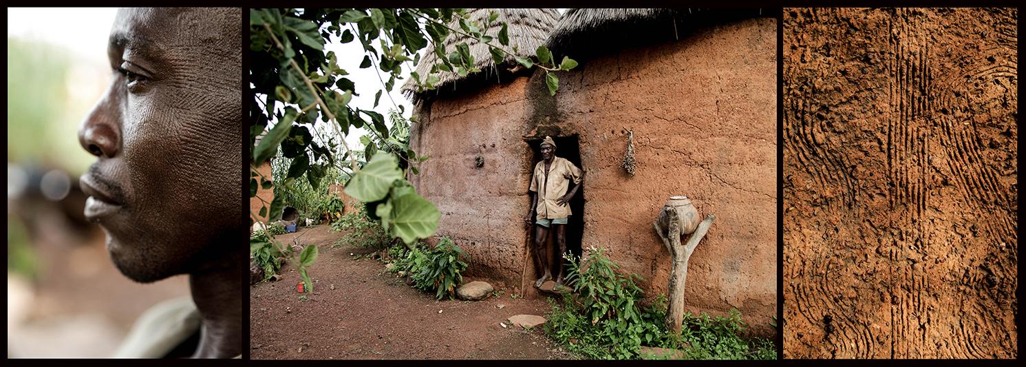 Nkwehi Ndah (à droite), fils de Diene Ndah, ne se souvient pas du jour où on lui a fait les marques. Sa mère précise qu'il a fallu le tenir bien pour ne pas qu'il s'enfuit ce jour-là. Maintenant, il est fier de cet héritage. Tous ses enfants portent les cicatrices.