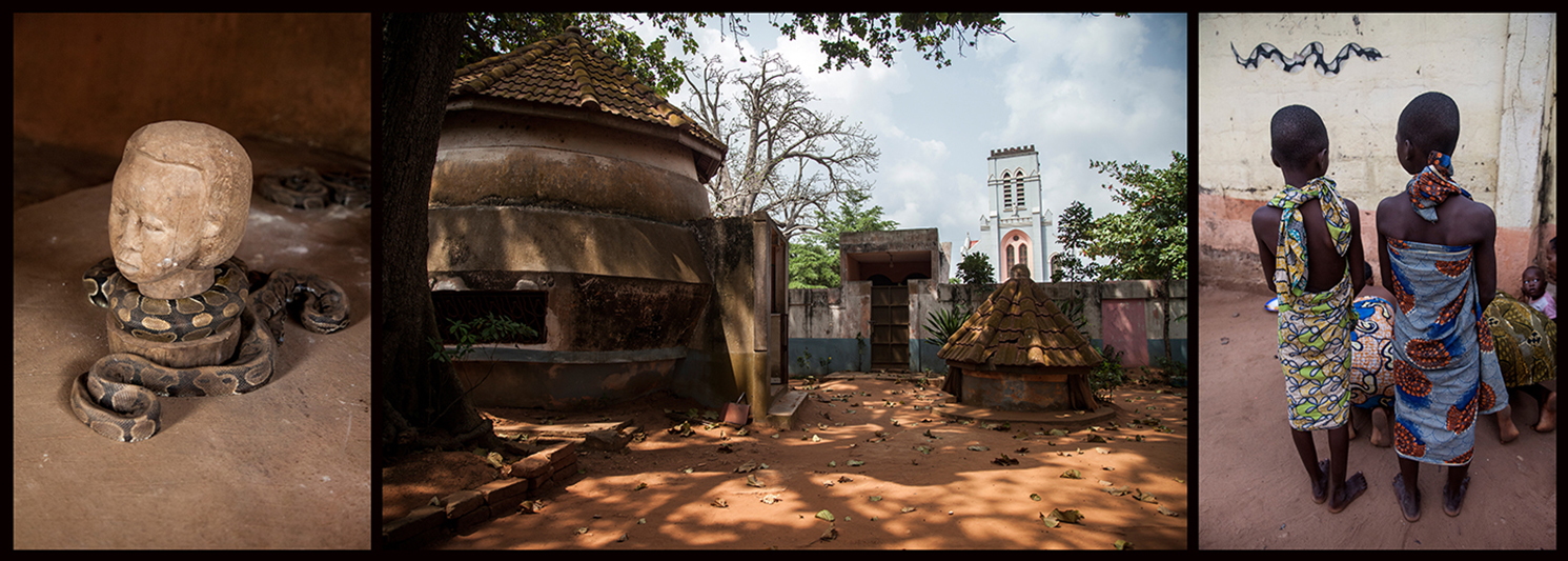Le Vodoukon rend hommage au Dangbe, la divinité vodun adorée par les Houédas et incarnée par le serpent python. Les pythons sont sacrés à Ouidah, et on dit qu'ils