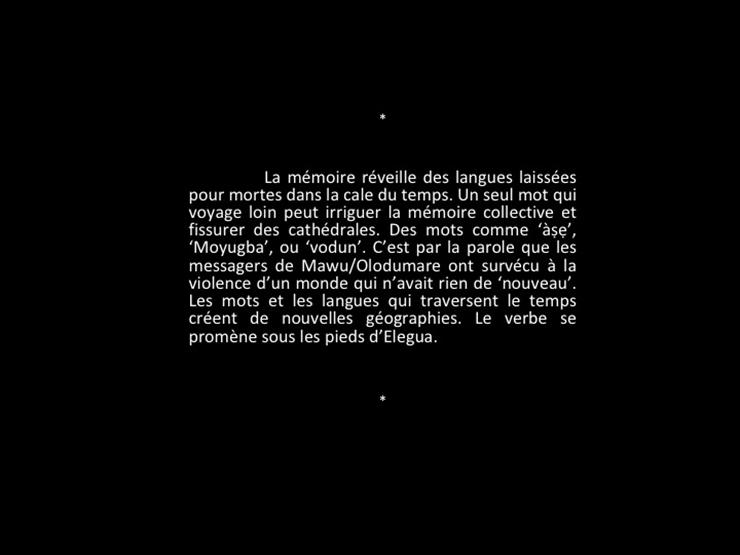 Les chemins de Yemoja - Extrait. Texte de Laeïla Adjovi